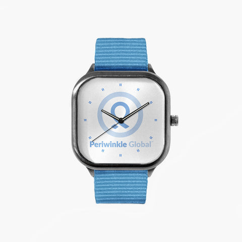 No Stomach For Cancer Periwinkle Global Watch with a Sky Blue Strap