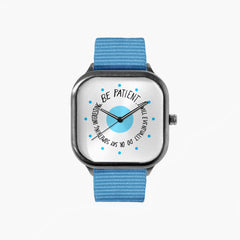 Villaraco Be Patient Watch with a Sky Blue Strap