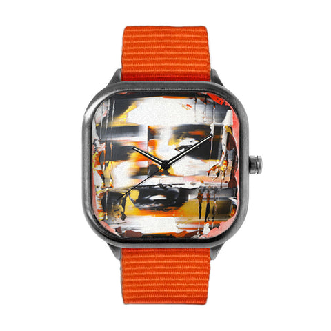Orange Disfigured Watch