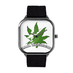 Imma Weedhead White Logo Alloy watch