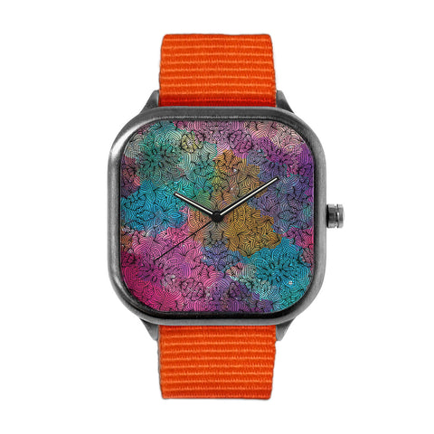 Floral Pattern Watch