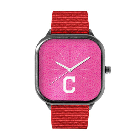Pink Cleveland Indians Watch