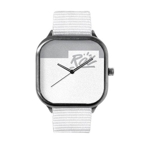 White Logo Watch
