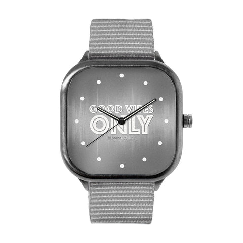 Fit Bottomed Girls Grey Good Vibes Only Watch