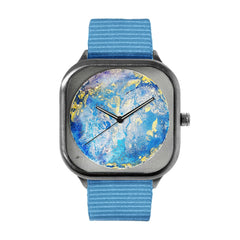 Blue and Yellow Watch