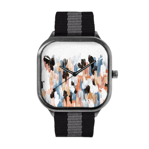 Copper and Blue Brushstroke Watch