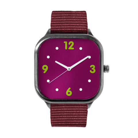 Basic Maroon Alloy watch