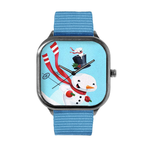 Snowman Skiing Watch