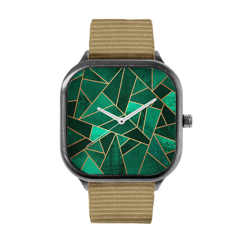 Emerald and Copper Watch