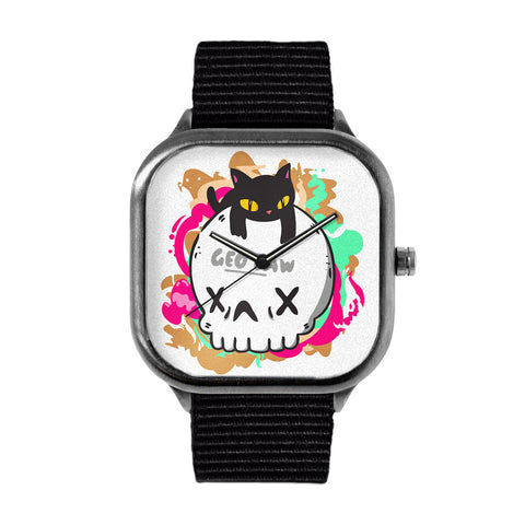 Cat Skull Watch