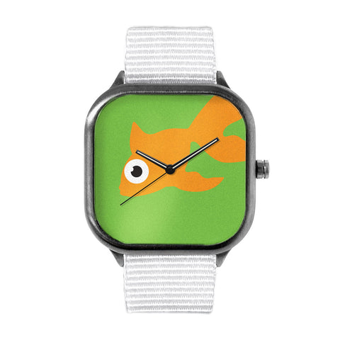 Green Goldfish Watch