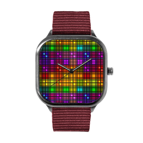 Over the Rainbow Plaid Watch