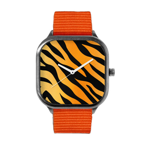 Tiger Stripes Alloy watch