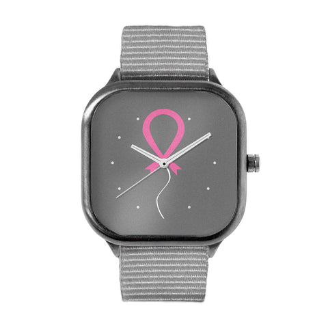 Pink Ribbon Balloon Watch