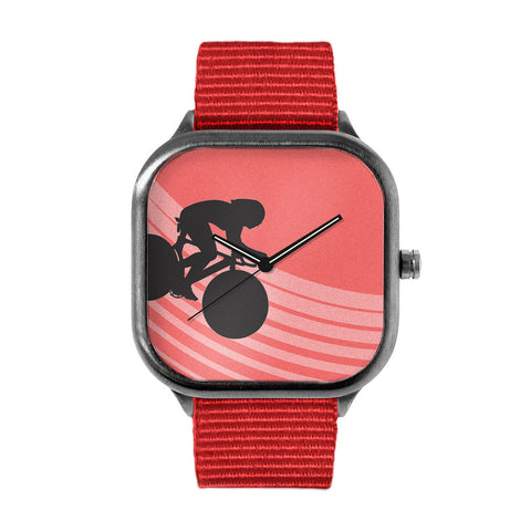 Red Silhouette Watch