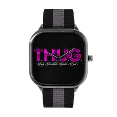 T.H.U.G.  Pink Dots Watch