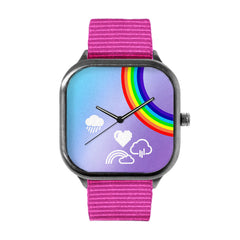 Purple Rainbow Chrono Watch