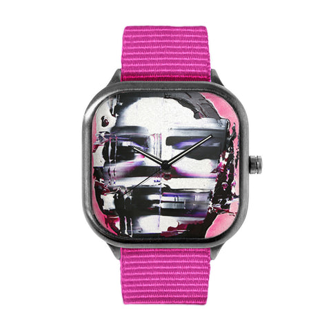 Pink Disfigured Watch