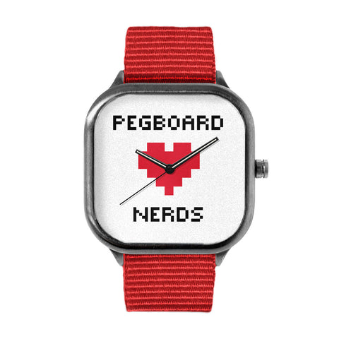 Pegboard Nerds White Watch