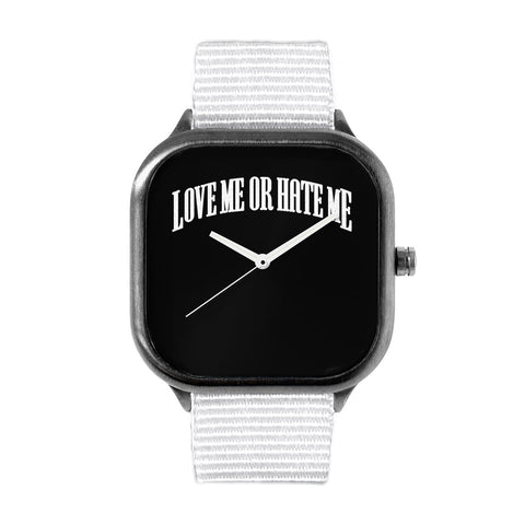 Love Me or hate Me Logo Watch