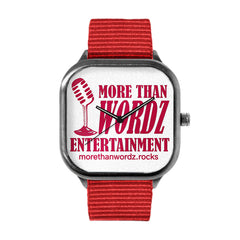 More Than Wordz.Rock Red Watch