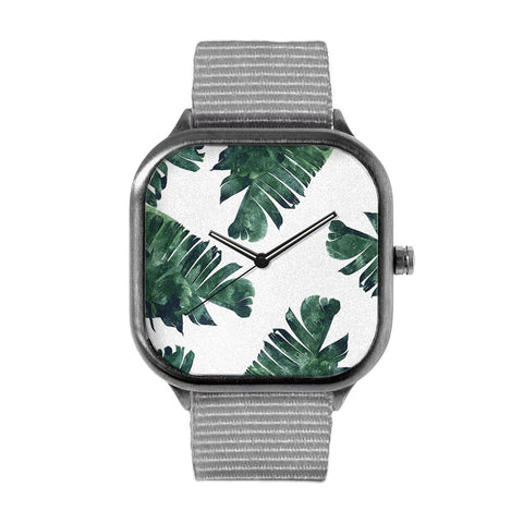Banana Leaf Watercolor Watch
