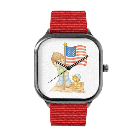 Precious Moments Flag Watch