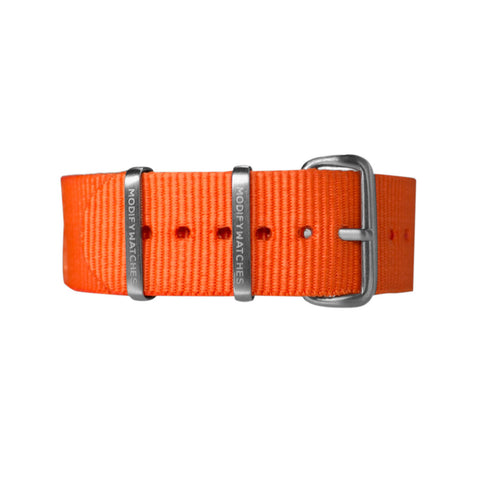 Orange Nylon Watch Strap