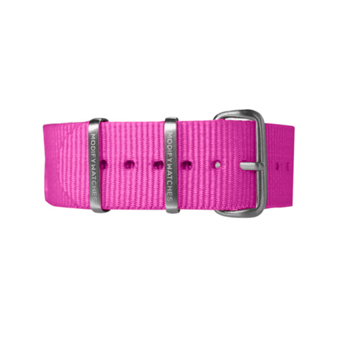 Pink Nylon Watch Strap
