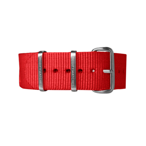Red Nylon Watch Strap