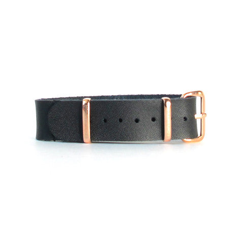 Black Leather Watch Strap (16mm)