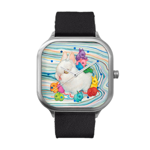 Rain Buns Stainless Steel Watch