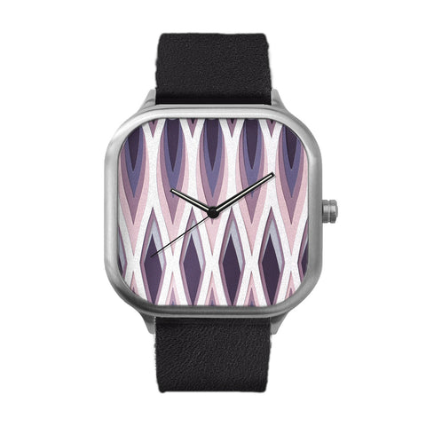 Flames Stainless Steel Watch
