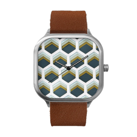 Honeycomb Stainless Steel Watch
