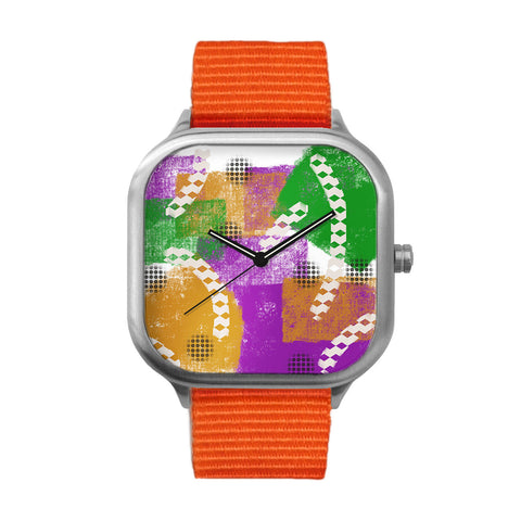 Mardi Gras Stainless Steel Watch
