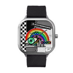 Into the rainbow triangle Stainless Steel Watch