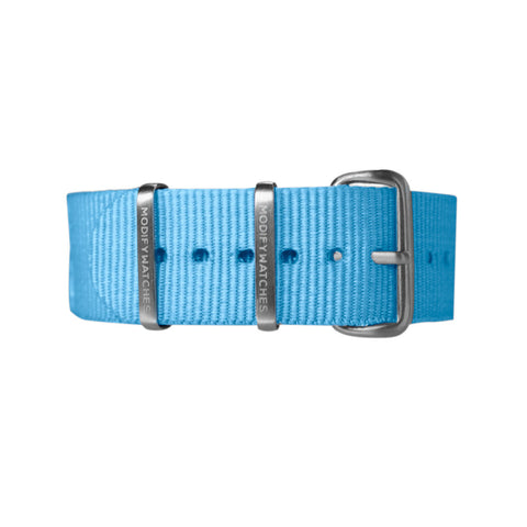 Sky Blue Nylon Watch Strap