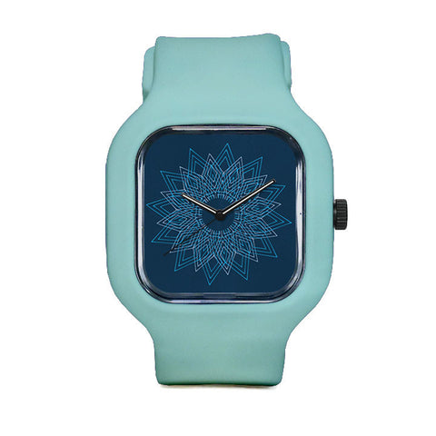 Snowflake Watch with Seafoam Green Strap