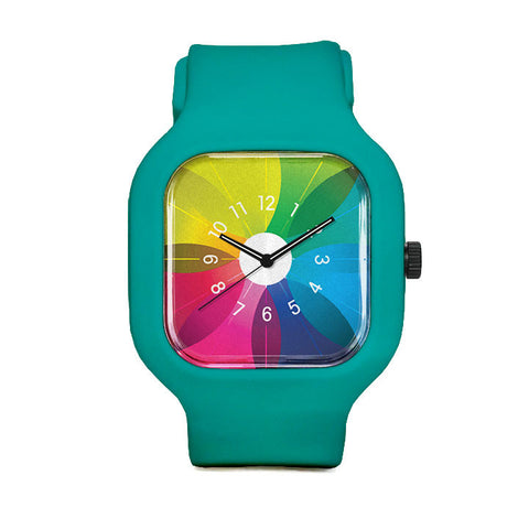 Spectrum Watch with Turquoise Strap