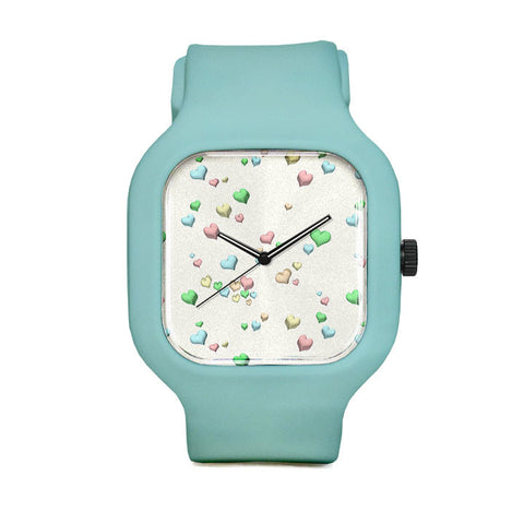 Pastel Candy hearts Sport Watch