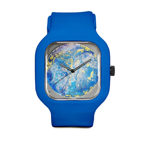 Blue and Yellow Sport Watch
