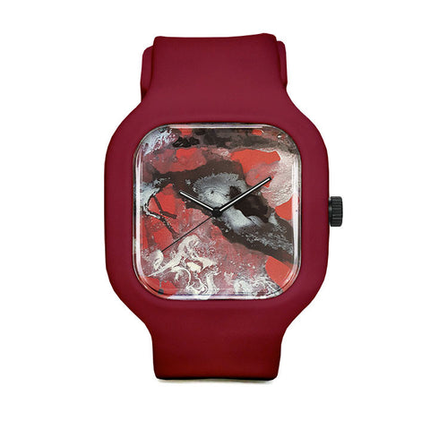 Black and Red Sport Watch