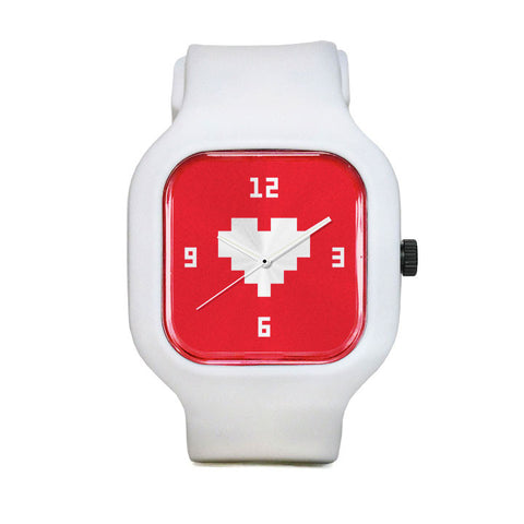 Pegboard Nerds Red Sport Watch