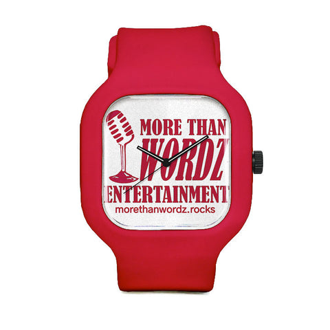 More Than Wordz.Rock Red Sport Watch