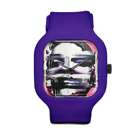 Pink Disfigured Sport Watch