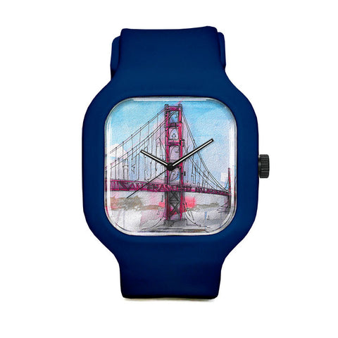 Graffiti Golden Gate Bridge Sport Watch