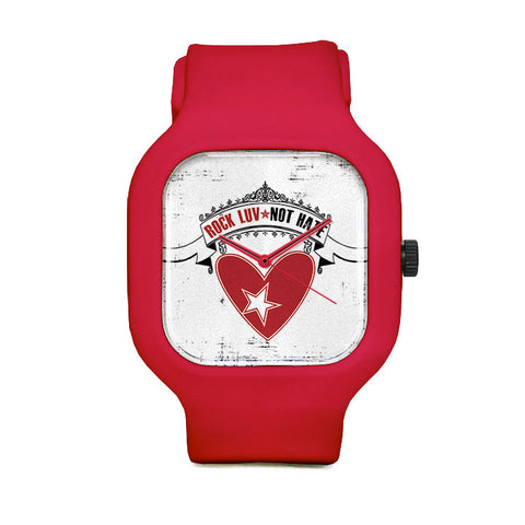 Rock LUV Not Hate Sport Watch