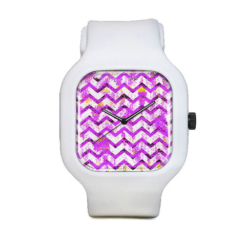 Pink and White Sport Watch