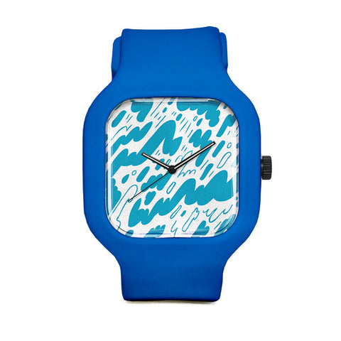 Blue Pattern Sport Watch