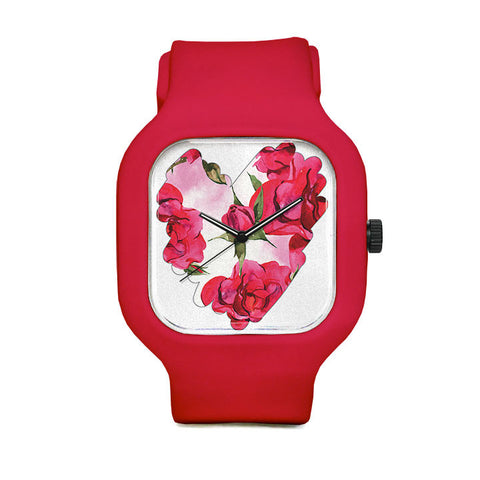Rose Scribble Sport Watch